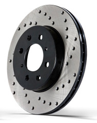 StopTech Sport Drilled Front Brake Rotor 348mm, BMW E90 335, AWD/RWD, 128.34093SR, 128.34093SL