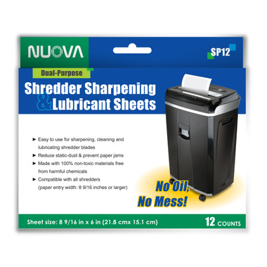 Nuova Shredder Sharpening & Lubricant Sheets ITBSP121