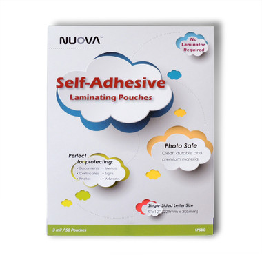 Nuova Premium Self-Adhesive Laminating Pouches