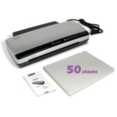 Nuova LM990HC Hot & Cold Laminator Bundle with 50-Sheet Letter Size 3 Mil Pouches
