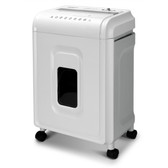 Aurora High-Security 8-Sheet Micro-Cut Paper, CD/DVD and Credit Card Shredder, White/Gray