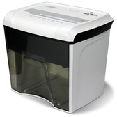 Aurora AU1285MD Compact Desktop-Style High Security 12-Sheet Micro-Cut Paper and CD/Credit Card/Junk Mail Pullout Basket Shredder, White/ Black