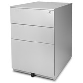 Aurora FC-103GD Fully Assembled Modern Soho Design 3-Drawer Metal Mobile File Cabinet with Lock Key, Gray