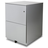 Aurora FC-102GD Fully Assembled Modern Soho Design 2-Drawer Metal Mobile File Cabinet with Lock Key, Gray