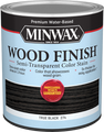 Minwax 10850 Qt True Black Wood Finish Water-Based Semi-Transparent Color Stain