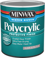 Minwax 61111 Qt Clear Ultra Flat Polycrylic Protective Finish