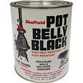 SHEFFIELD Pot Belly Black High Temperature Finish  QUART