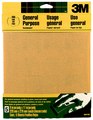 3M 9001NA Aluminum Oxide Sanding Sheets, 9 in x 11 in, 150 grit Fine, 5 Sheets/pk