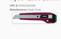 Hyde 18MM Snap-Off Utility Knife