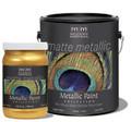 MODERN MASTERS MM705 QT OYSTER MATTE METALLIC PAINT