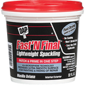 DAP   LIGHTWEIGHT INTERIOR/EXTERIOR FAST N FINAL SPACKLING (QT)