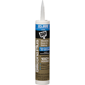 DAP 10 3OZ CLEAR SILICONE PLUS WINDOW AND DOOR SEALANT
