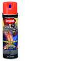 KRYLON 15OZ FLUORESCENT ORANGE INVERTED MARKING CONTRACTOR SOLVENT BASED SPRAY