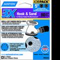 "NORTON 5"" 5 & 8 HOLE P80 3X HOOK & LOOP DISCS 10PK"