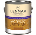 Lenmar Aqua Plastic Urethane Clear Coatings DULL FLAT 1 Gallon 1WB.1420