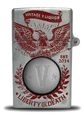 Metal Vintage e-liquid bottle - Red