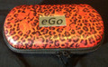 Ego red animal print with roses zipper case