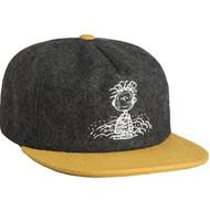 HUF X Peanuts Pigpen Snapback Hat - Charcoal Yellow