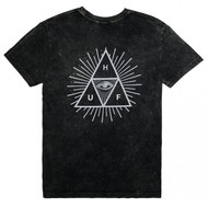 HUF Tripe Triangle Third Eye Tee - Black Acid Wash