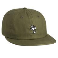 HUF X Peanuts Spike 6 Panel Strapback Hat - Olive