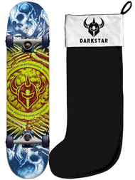 Darkstar Remains Lime 7.75 Premium Complete Skateboard + Stocking