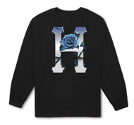 HUF - Ice Rose Classic H Long Sleeve Tee - Black