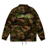 Stüssy Camo Cruize Coach Jacket - Camo / Green