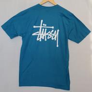 Stussy Basic Logo Tee  - Ocean Blue