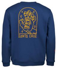 Santa Cruz Gateway Screaming Hand Sweatshirt - Blue