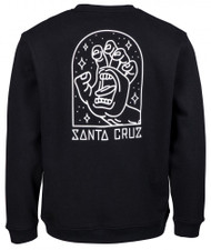 Santa Cruz Gateway Screaming Hand Sweatshirt - Black