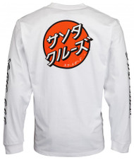 Santa Cruz L/S Japanese Dot Tee - White