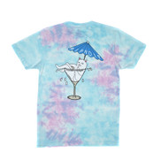 Ripndip - Dirty Nermtini Pocket Tee - Blue / Pink Acid Wash
