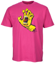 Santa Cruz Screaming Hand Tee - Raspberry
