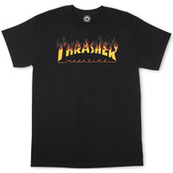 Thrasher BBQ Flame Logo Tee - Black