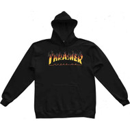 Thrasher BBQ Flame Logo Hoodie - Black