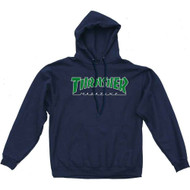 Thrasher Outined Logo Hoodie - Navy