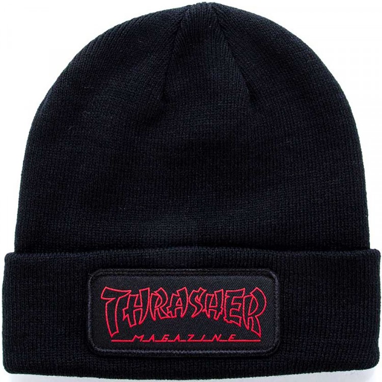 ceb52a93be4 Thrasher China Banks Patch Beanie - Black