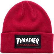 Thrasher Logo Patch Beanie - Maroon
