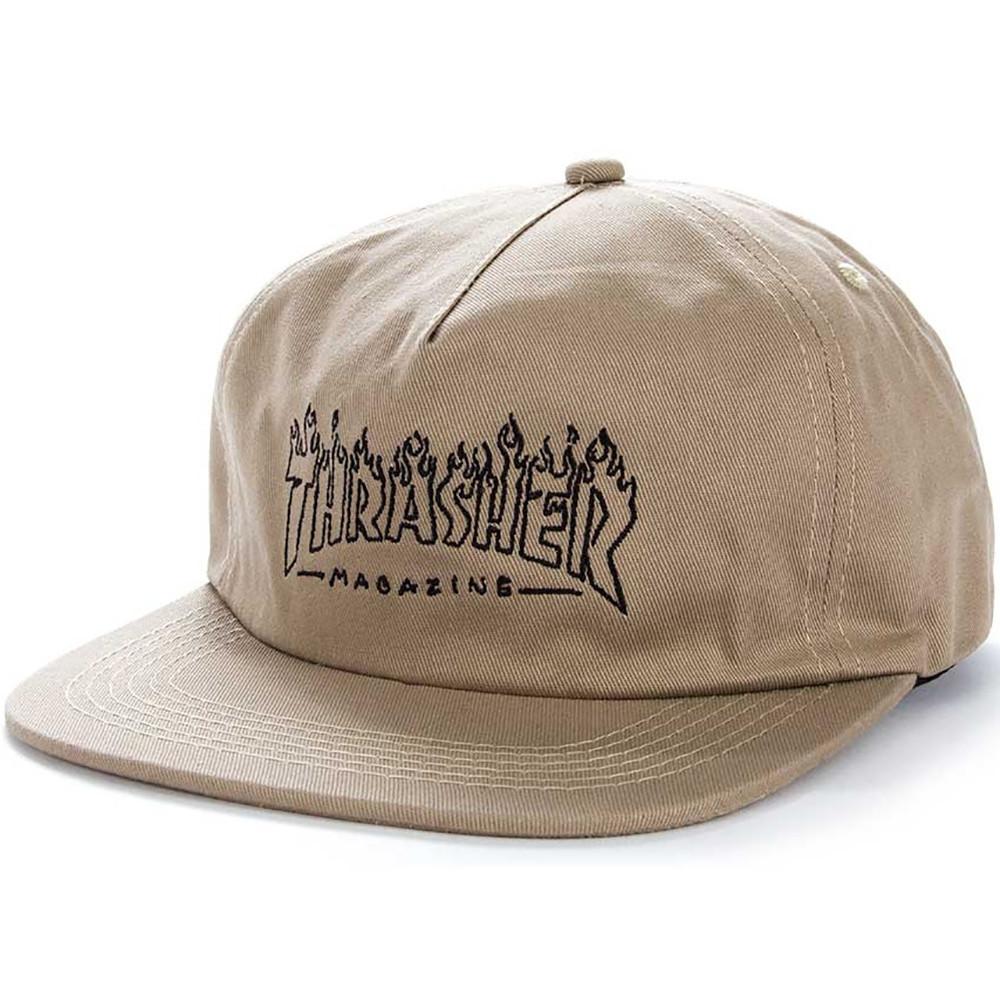 d3872696b646a Thrasher Witch Snapback Hat - Tan
