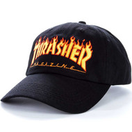 Thrasher Flame Logo Old Timer Hat - Black