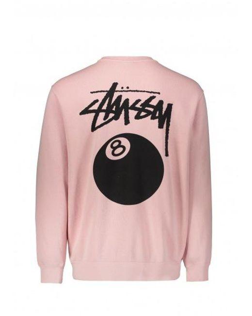 f5766c4d3c Stussy 8 Ball Pigment Dyed Crew Sweatshirt - Pink