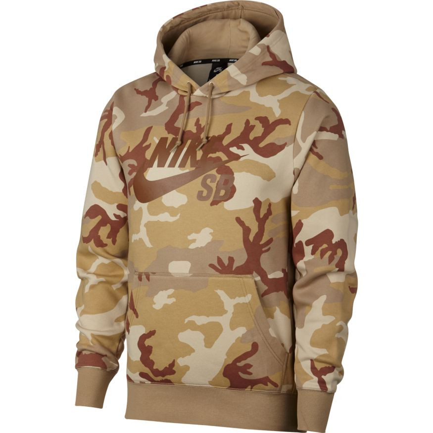 3fa6a778d Nike SB Icon Camo Hoodie - Desert Ore Parachute Beige Ale Brown. Price   £64.95. Image 1