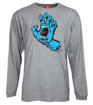 Santa Cruz Screaming Hand Long Sleeve Tee - Grey