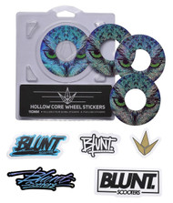 Blunt Envy 110mm Hollowcore Wheel Stickers - Owl