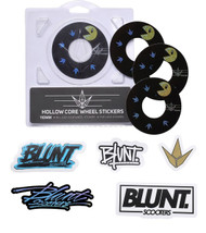 Blunt Envy 110mm Hollowcore Wheel Stickers - Pacman