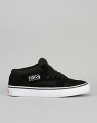 Vans Half Cab Pro Skate Shoes - Black/Black/White