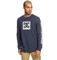 DC - Square Star - Long Sleeve T-Shirt - Navy