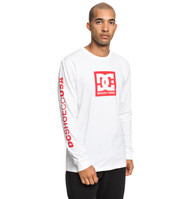 DC - Square Star - Long Sleeve T-Shirt - White
