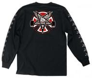 Indy X Thrasher Longsleeve Tee - Pentagram Cross - Skate Goat - Black