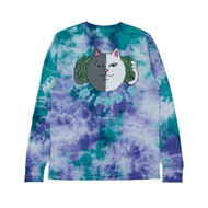 RIPNDIP Money Talks Long Sleeve Tee - Green / Purple Acid Wash